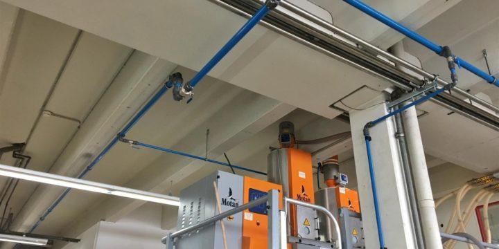 Kläger Plastik kiest voor AIRpipe voor de vervanging van zijn stalen leidingstelsel